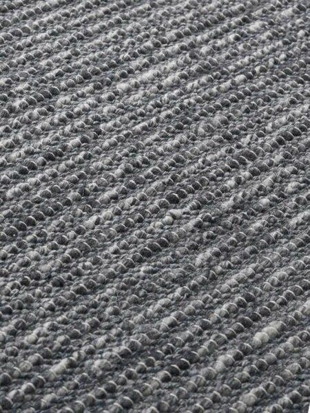 Xylo Natural/Denim Grey flatweave rug - detail image