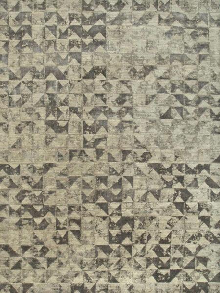 handknot rug in grey