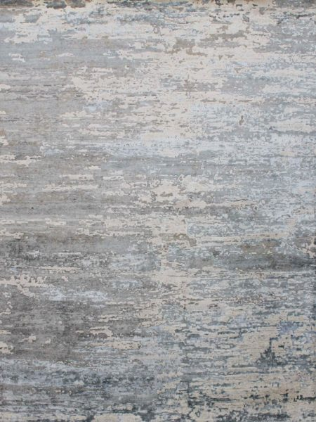 Elwood Silver Blue luxury handknotted rug made from NZ Wool and Artsilk