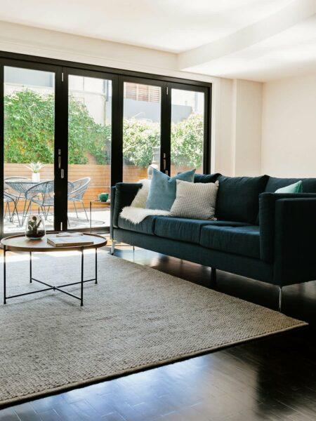 Madison Grey texutured rug lifestyle shot