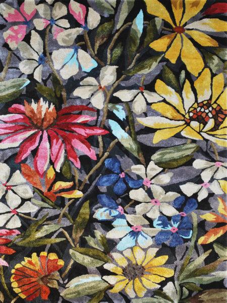 Romance Petals luxury rug in beautiful multi colours