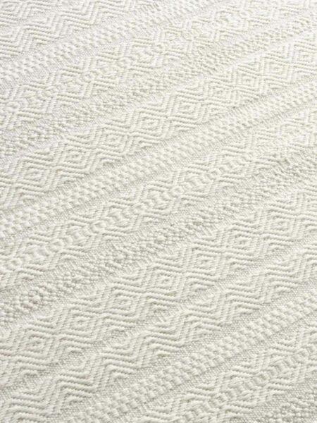 Silhouette flatweave rug detail