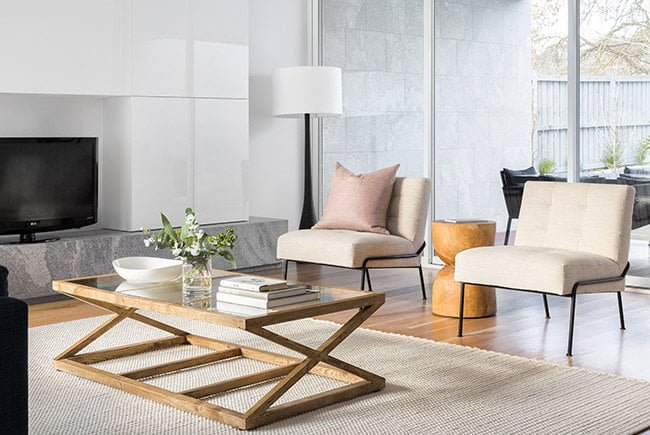 Property Styling by The Real Estate Stylist with a Homer Rug Collection rug