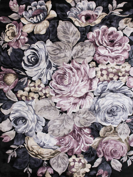 Romance floral luxury rug collection handmade in artsilk