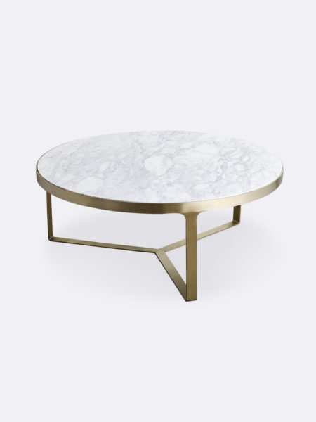 Julius marble coffee table with gold metal frame