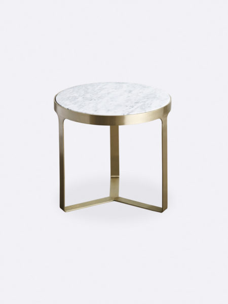 Julius marble side table with gold metal frame