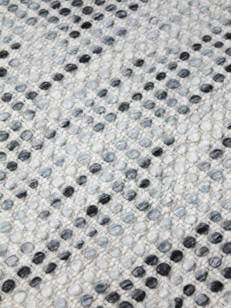 Kober flatweave pure 100% wool rug mist grey detail image