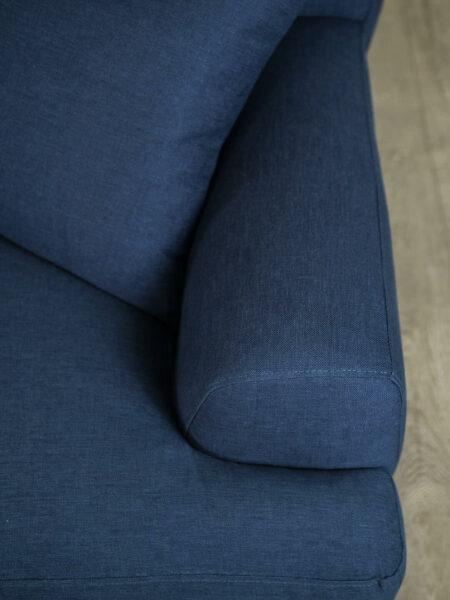 Alexis Sofa in Aegeam blue fabric