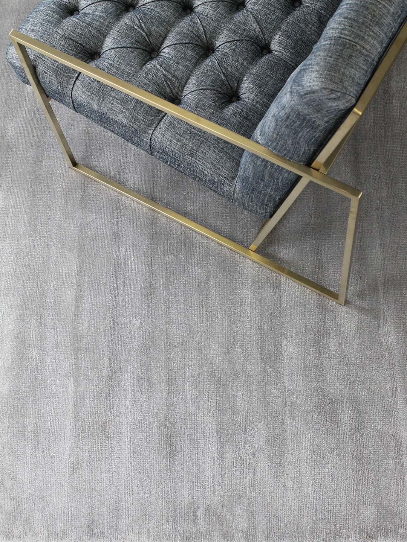 Glitz Silver luxury artsilk rug - lifestyle image