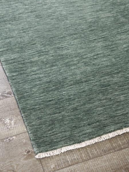 Diva handmade rug in green
