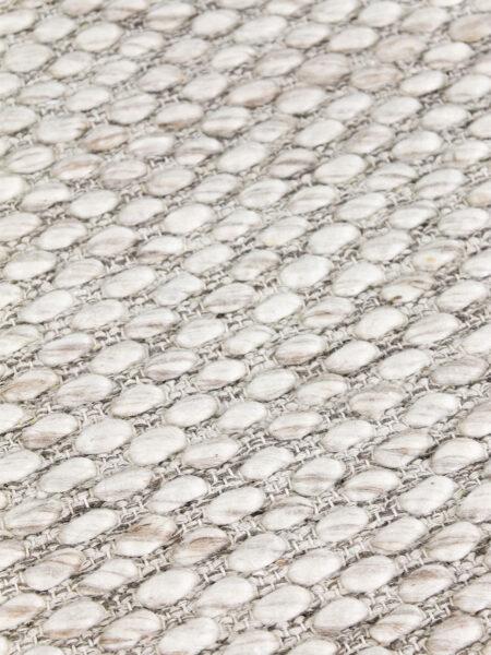 Palmas Beige handwoven flatweave rug in 100% wool - detail image