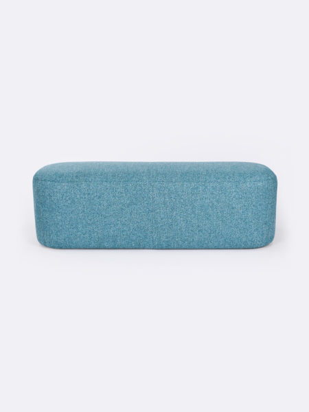 Astro large ottoman in Turquoise blue fabric