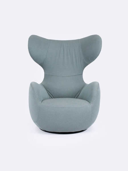 Elroy Swivel Chair upholstered in Pine green fabric
