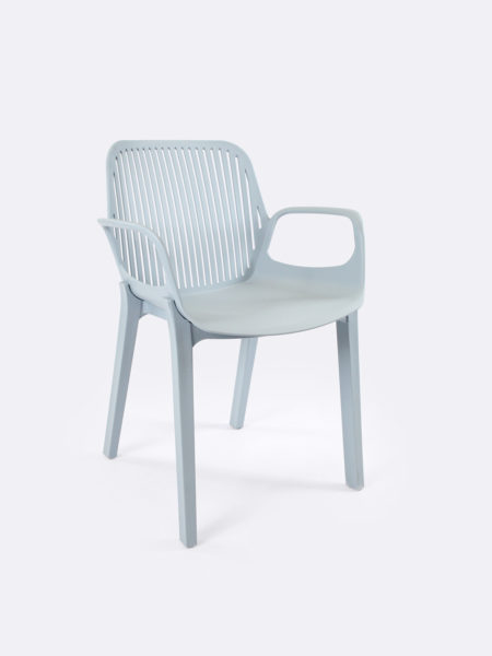 Axel plastic chair in Azure blue colour