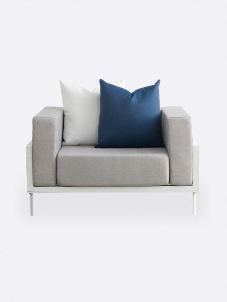 Cleo Outdoor Armchair in Grey fabric