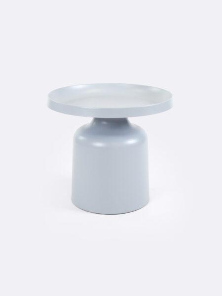 Lulu metal side table in Azure blue colour
