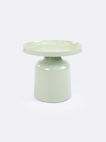 Lulu metal side table in Mint green colour