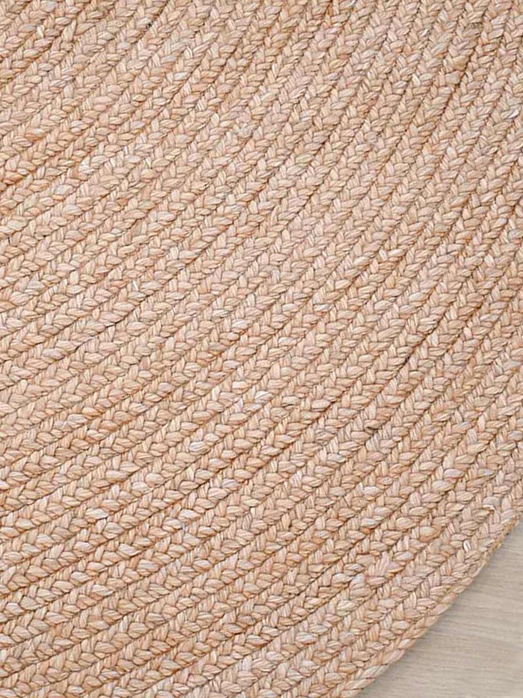 paddington round woven rug in clay pink