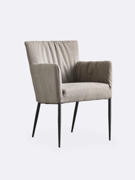 Erica Dining Chair wit slouch fit fabric