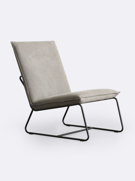 Tyler occasional chair in Espresso grey fabric