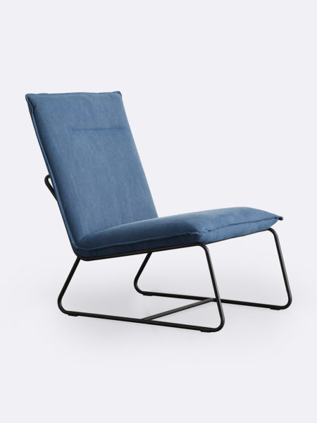 Tyler occasional chair in Indigo blue fabric