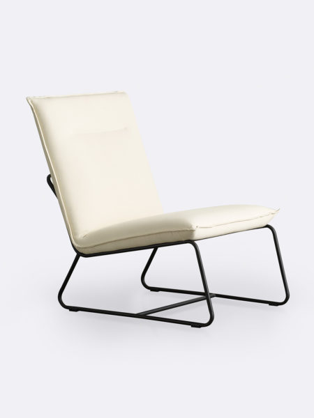 Tyler occasional chair in Shell white fabric