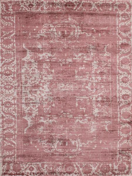 Alcazar flamingo pink rug overhead image of rug