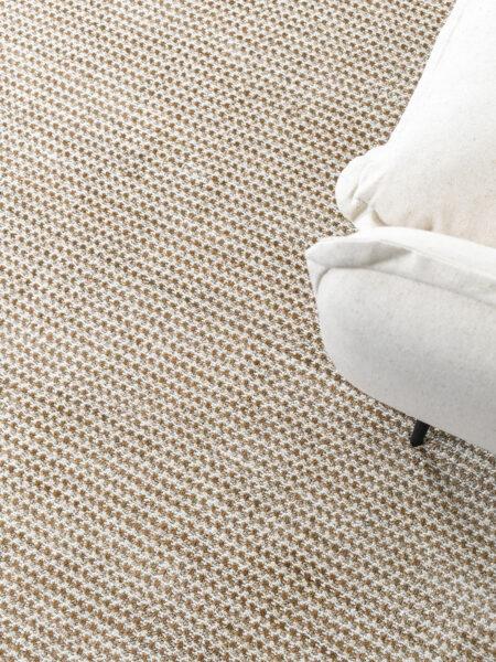Domingo Natural/Ivory rug handmade in wool & jute