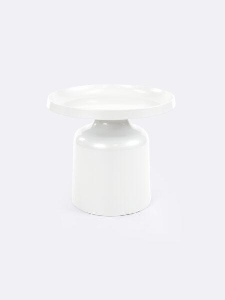 Lulu metal side table in White