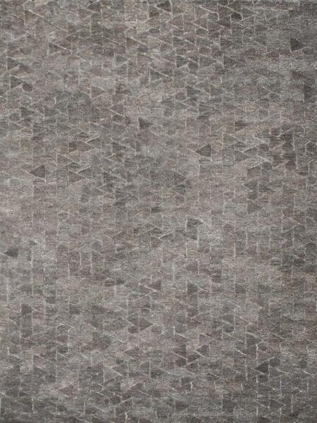 Pasedena Fudge brown/taupe textured wool rug overhead image