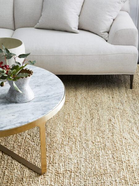 Popcorn natural handwoven jute rug