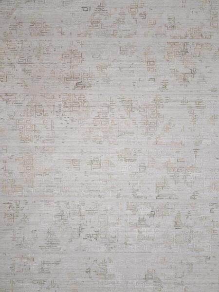 Regency ZR276 Latte beige rug handloom knotted in wool and artsilk - overhead image
