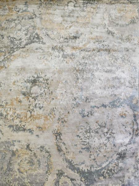 Jamaica Tan/Taupe luxury handknotted rug - overhead image
