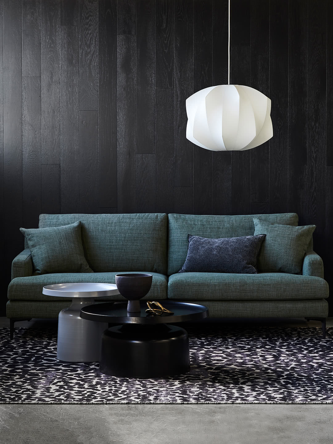 Zane Sofa in Banksia textured fabric with Lulu Coffee and Side table