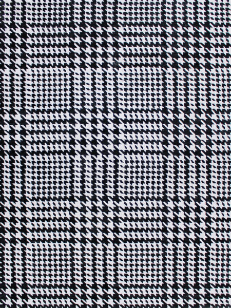 Audrey Black & White houndstooth pattern rug - overhead image