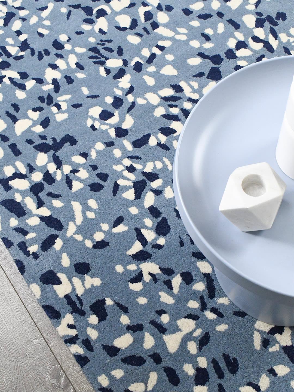 Terrazzo Malibu blue rug handtufted in 100% wool - lifestyle image