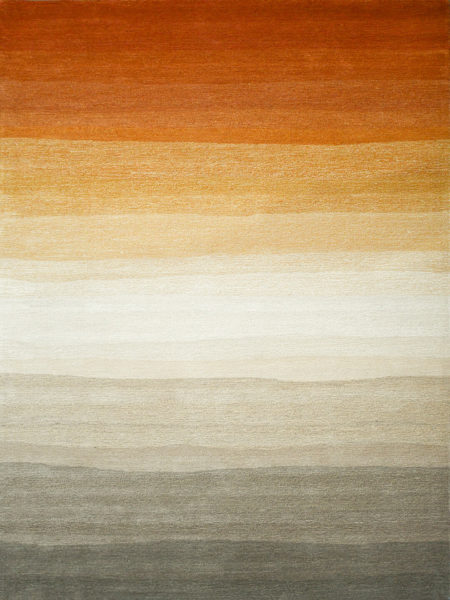 Mirage Retreat ombre wool rug earth tones multi-coloured