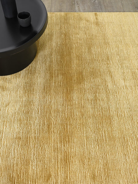 Shimmer Honey yellow/gold rug handmade in wool & artsilk - lifestyle image