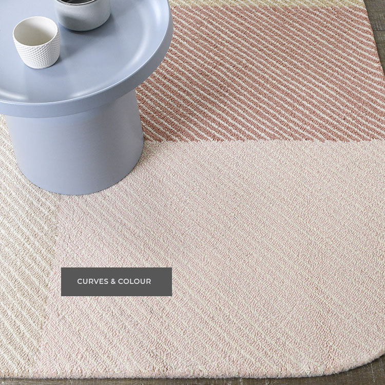 New curved edge rugs