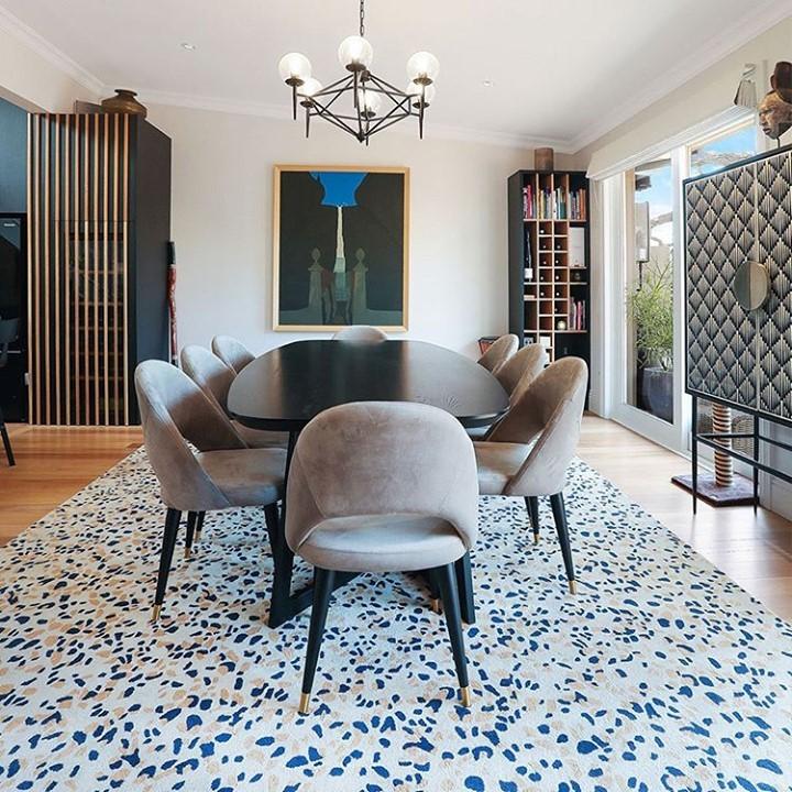 Terrazzo Rug in dining room