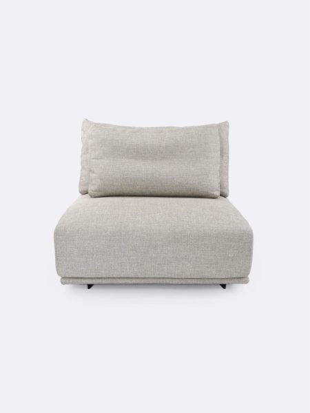 Stella Armless Lounge in Linen beige - front view