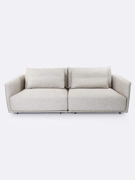 Stella Lounges pair in Linen beige - front view