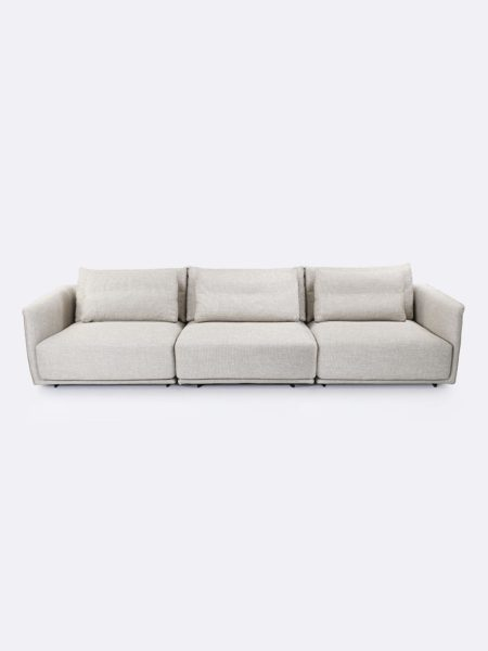 Stella Lounges x 3 in Linen beige - front view
