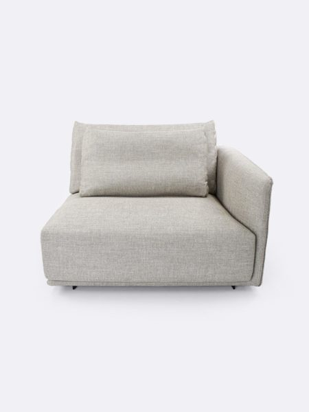 Stella Right Arm Lounge in Linen beige - front view