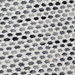 Subi Charcoal Ivory Rug Swatch
