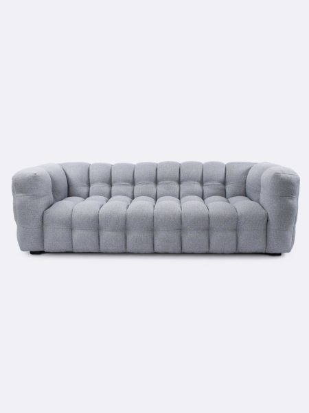 Chester Modern Sofa in grey fabric - front view