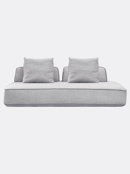 Hannah modular Sofa in Dove grey fabric
