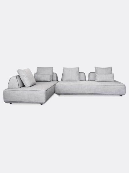 Hannah modular Sofa pair in Dove grey fabric