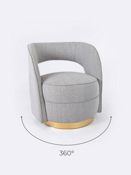 Lara Club Chair with swivel base