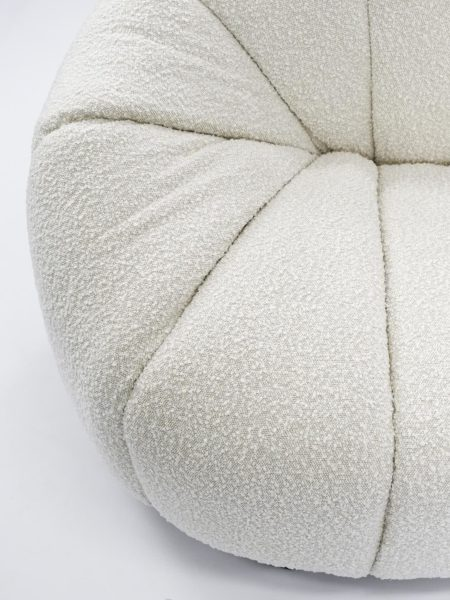 Lily Sofa in Ivory - boucle fabric detail image